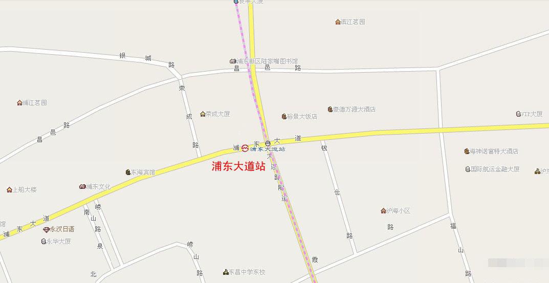 浦东大道站规划站点位置